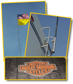 Combo Special, Harley Flag, 24ft Flag Pole and Ladder Mount